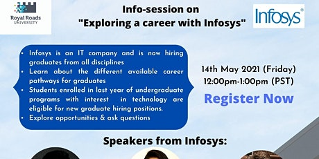 """Info session on """"Exploring a career with Infosys"""" tickets"""
