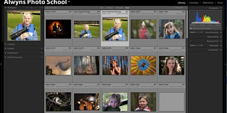 Photography Course 20-Lightroom Classic Part 1 Introduction  (Eltham) tickets