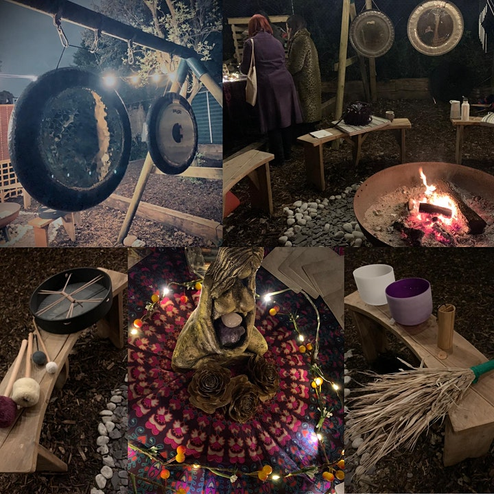 GONGS IN THE GARDEN ~ Full Moon Cacao Ceremony & Sound Journey by the fire image