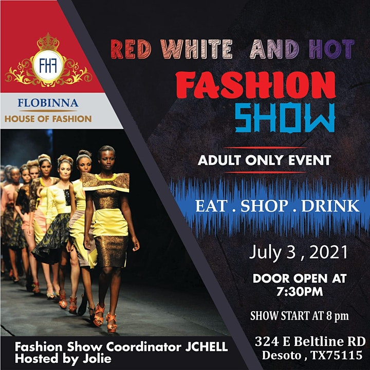 FLOBINNA Presents: Red, White & Hot Fashion Show image