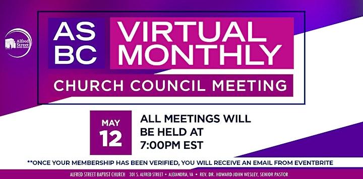 MAY  ASBC VIRTUAL CHURCH COUNCIL MEETING image
