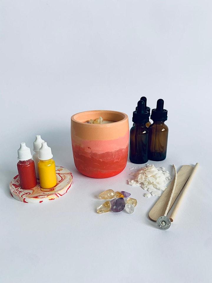 Masterclass Morning: Crystal Candle Workshop by OLILA image