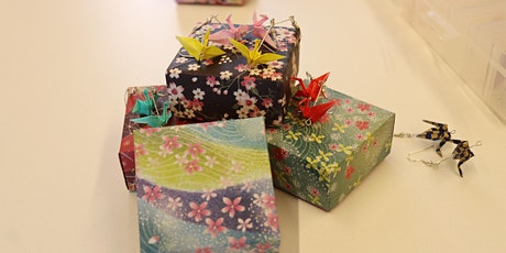 Origami Earrings and jewellery boxes at Marrickville Library tickets