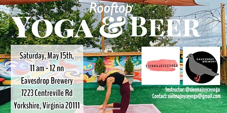 Rooftop Yoga and Beer tickets