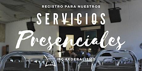 Servicio presencial 16 Mayo  IBGF entradas