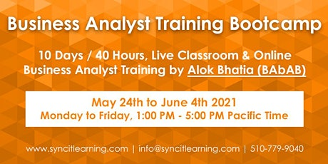 Business Analyst Training Bootcamp tickets