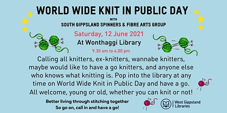 World Wide Knit in Public Day @ Wonthaggi Library tickets