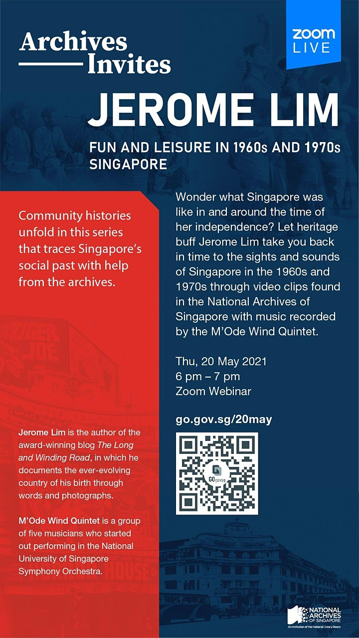 Archives Invites: Jerome Lim – Fun and Leisure in 1960s and 1970s Singapore image
