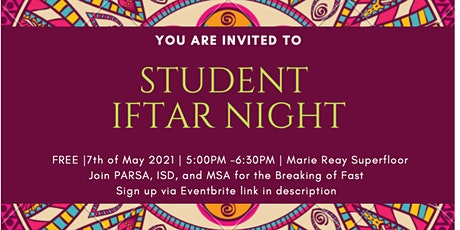 Student Iftar Night @ ANU tickets