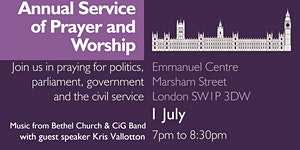 Annual Service of Prayer and Worship for Government and...