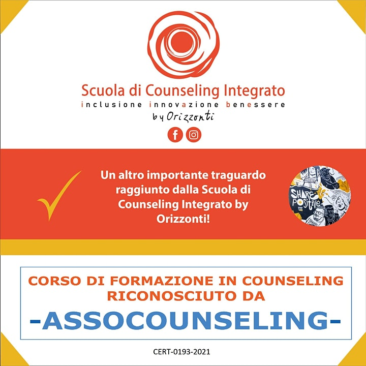 Immagine Open Day di presentazione della Scuola di Counseling Integrato by Orizzonti