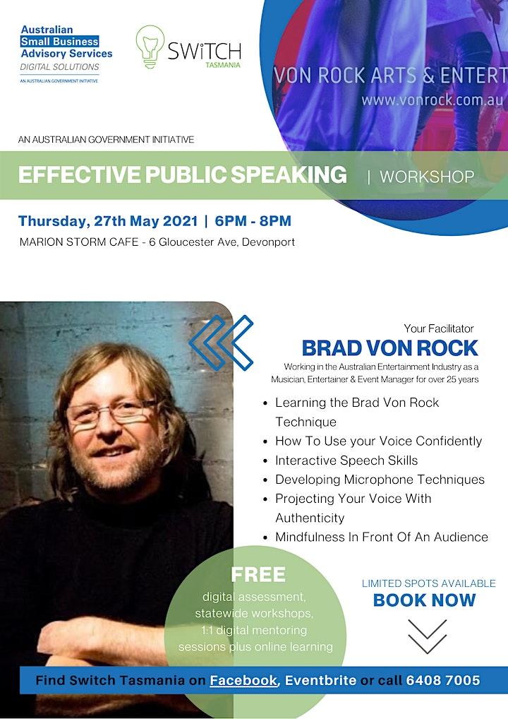 EFFECTIVE PUBLIC SPEAKING with Brad Von Rock image