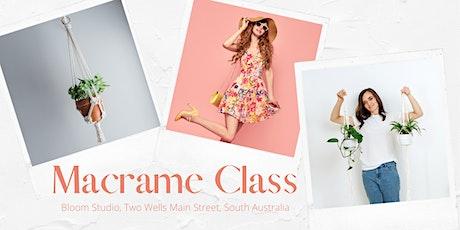 Macrame Class at Bloom Studio tickets