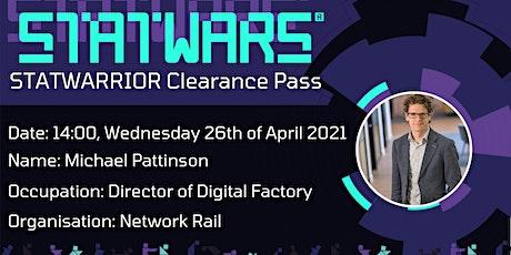 STATWARRIOR Interview: Michael Pattinson, Director at Network Rail tickets