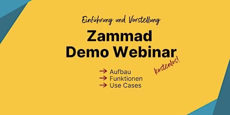 Vorstellung von Zammad: Demo Webinar (Deutsch) Tickets