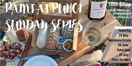 PAINT at PUHOI VALLEY CAFE - Sunday Series (Wine) 23.05.21 tickets