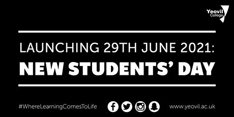 New Students' Day, launching 29th June 2021 tickets