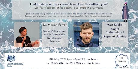 "Fast Fashion & the Ocean | La ""Fast Fashion"" et l'Océan tickets"