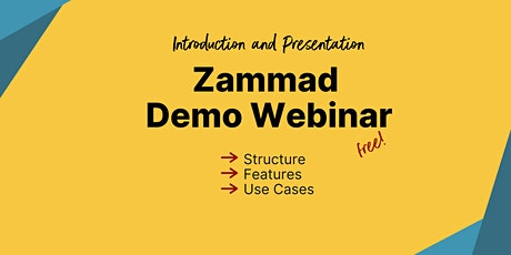 Introduction to Zammad: Demo Webinar (English) billets