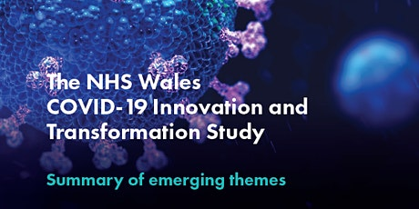 Innovation across NHS Wales in response to COVID-19 tickets