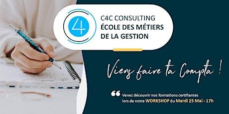 Workshop du 25 Mai  2021 chez C4C, Ecole des métiers de la Gestion billets