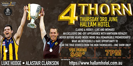 4Thorn feat Clarko & Hodgy LIVE & intimate at The Hallam Hotel! tickets