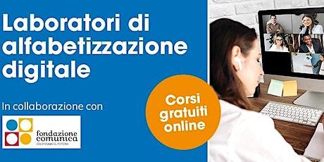 Corso di Alfabetizzazione Digitale - Zoom biglietti