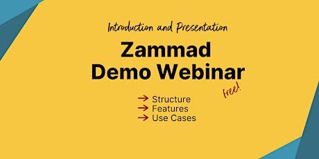 Introduction to Zammad: Demo Webinar (English) tickets
