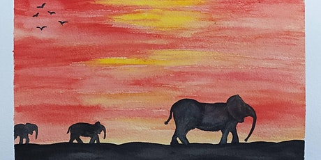 Watercolour with Lauriel - Fun, Friendly ONLINE session - Elephants Delight tickets