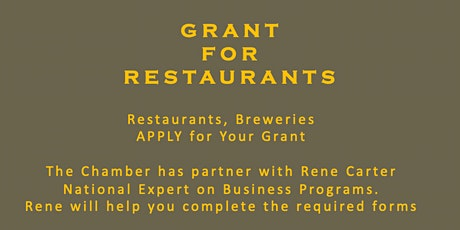 GRANT FOR RESTAURANTS AND BREWERIES (May 12) tickets