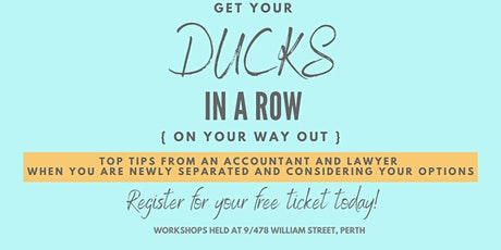 Get Your Ducks in a Row tickets