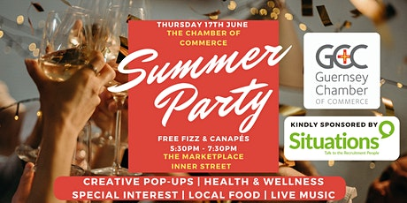 Chamber Summer Party - FREE  Fizz & Canapes plus Pop Up Creatives Market tickets