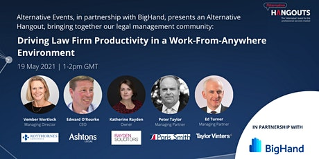 Driving Law Firm Productivity in a Work-From-Anywhere Environment tickets