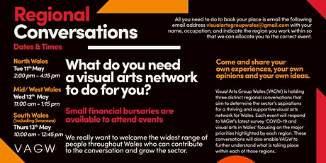 Conversations: Opportunity to influence the visual arts landscape in Wales tickets