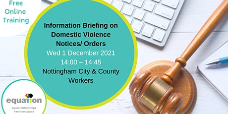 Info Briefing on DV  Protection Notices/Orders(City and County workers) tickets