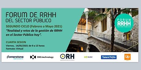 4ª SESIÓN:FORUM DE RRHH DEL SECTOR PÚBLICO / Primer Ciclo 2021 entradas