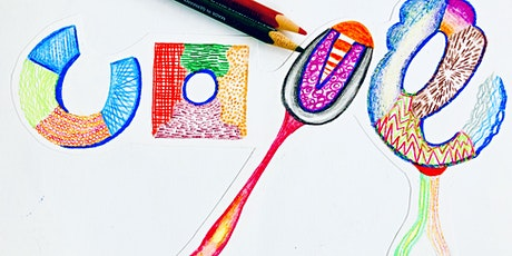 Wellbeing Art Sessions - Self Esteem - Love Typography Coloured Pencils tickets