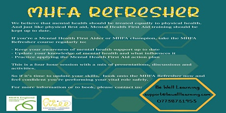 Online Mental Health First Aid Refresher course tickets