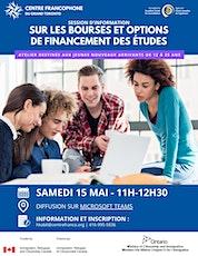 Session d'information sur les bourses et options de financement des études billets