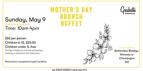 Mother's Day Brunch at Graduate Annapolis tickets