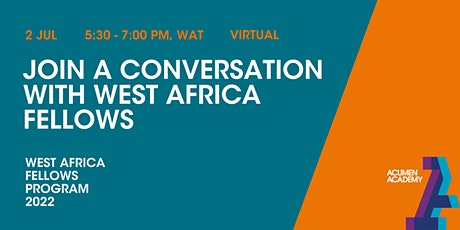 Join a Conversation with West Africa Fellows tickets