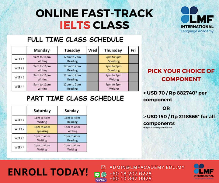 ONLINE FAST-TRACK IELTS SCORING CLASS (Indonesia)* image
