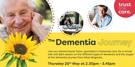 The dementia journey, a virtual support session tickets