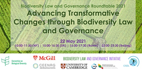 Advancing Transformative Changes through Biodiversity Law and Governance tickets