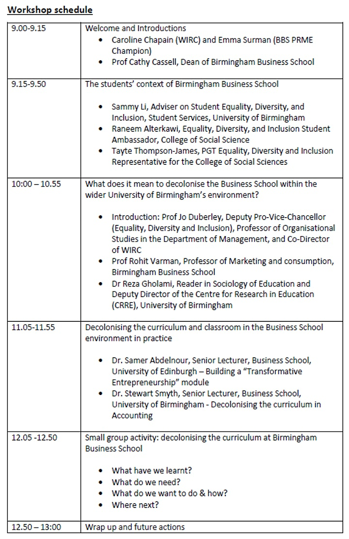 Workshop - Decolonising the Business School curriculum image