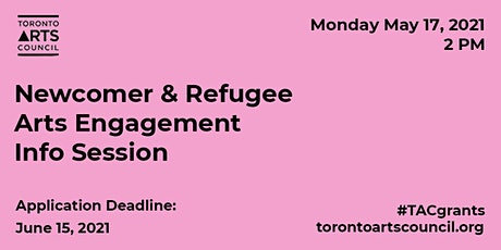 Newcomer & Refugee Arts Engagement Funding Program Information Session tickets