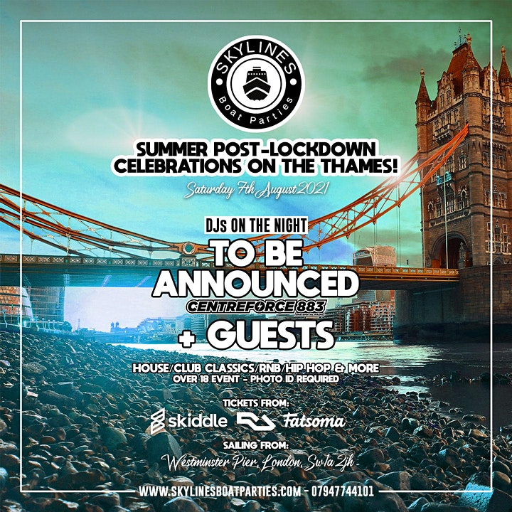 Post lockdown celebration on the Thames image