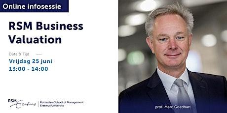 Online informatiesessie RSM Business Valuation - 25 juni 2021 tickets