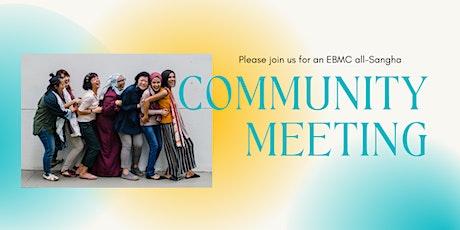Saturday May 8: Community Meeting tickets