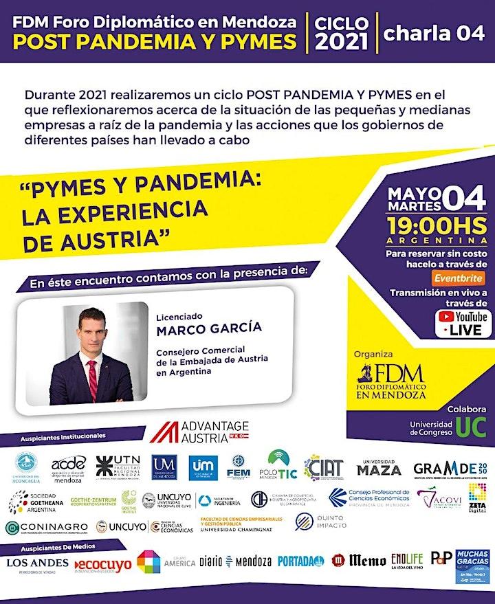 """Imagen de FDM- Ciclo 2021 """"POST PANDEMIA y PYMES"""" (virtual) charla 04"""